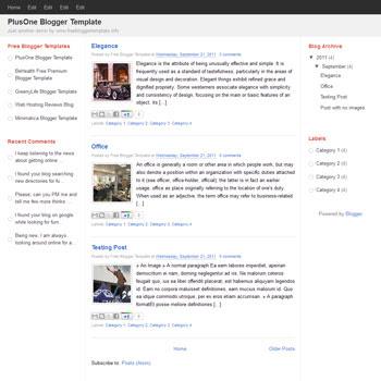 PlusOne blogger template. minimalist design blogger template. minimalist blogspot template