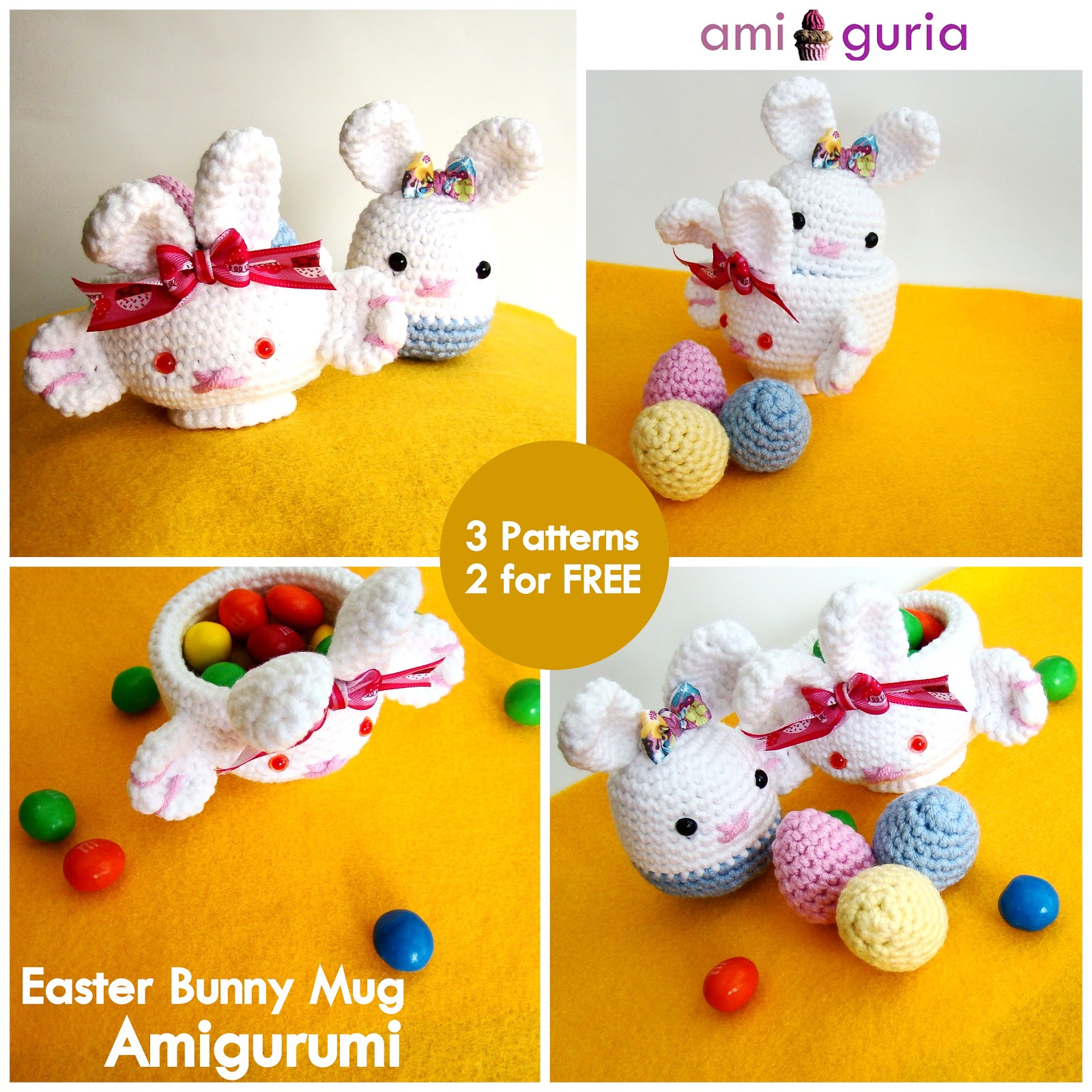 amiguria amigurumi: Easter Bunny Mug Amigurumi