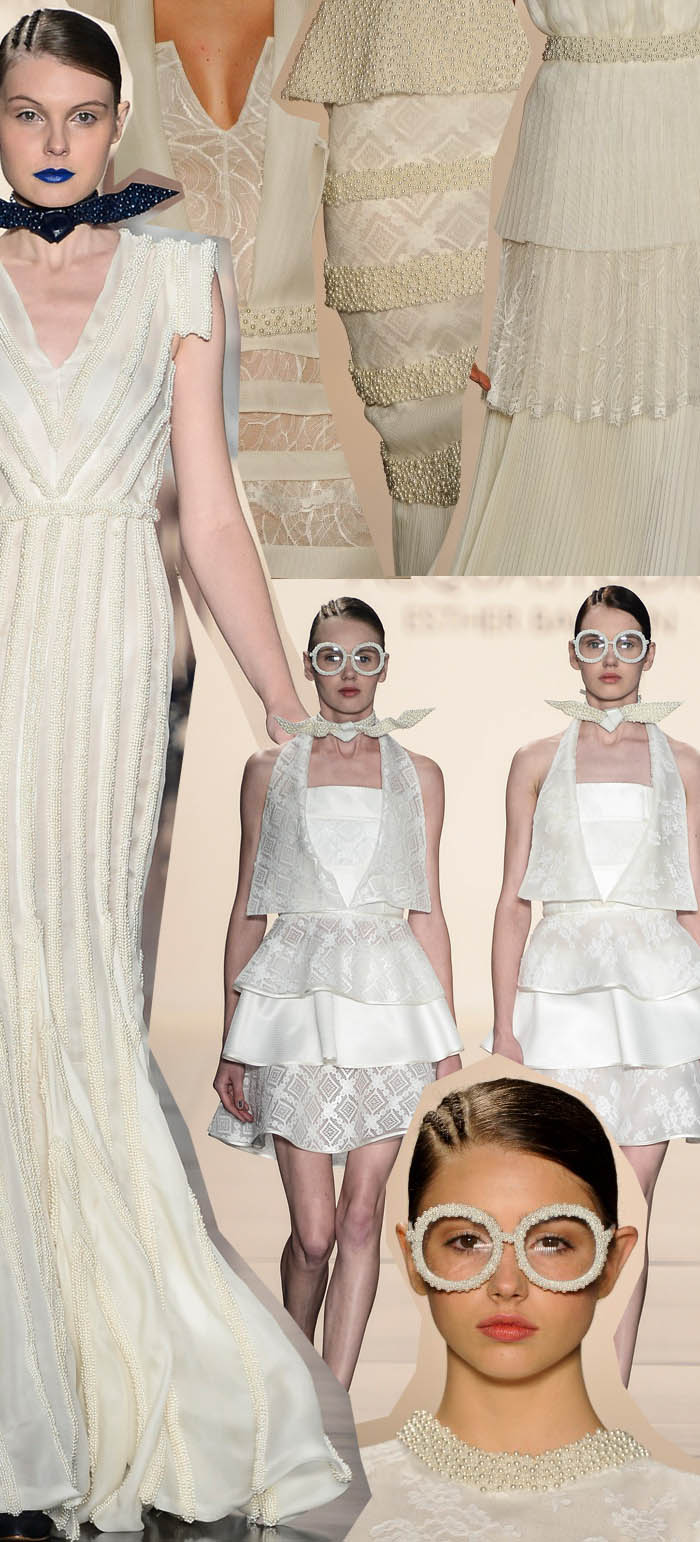 AS PÉROLAS DO #SPFW_vestido com pérola_perolado_vestidos curtos_vestidos rodados_vestidos claros_vestidos de gala