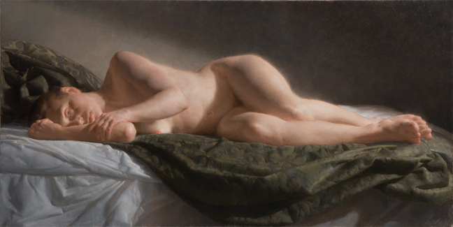 Reclining nude by jacob collins