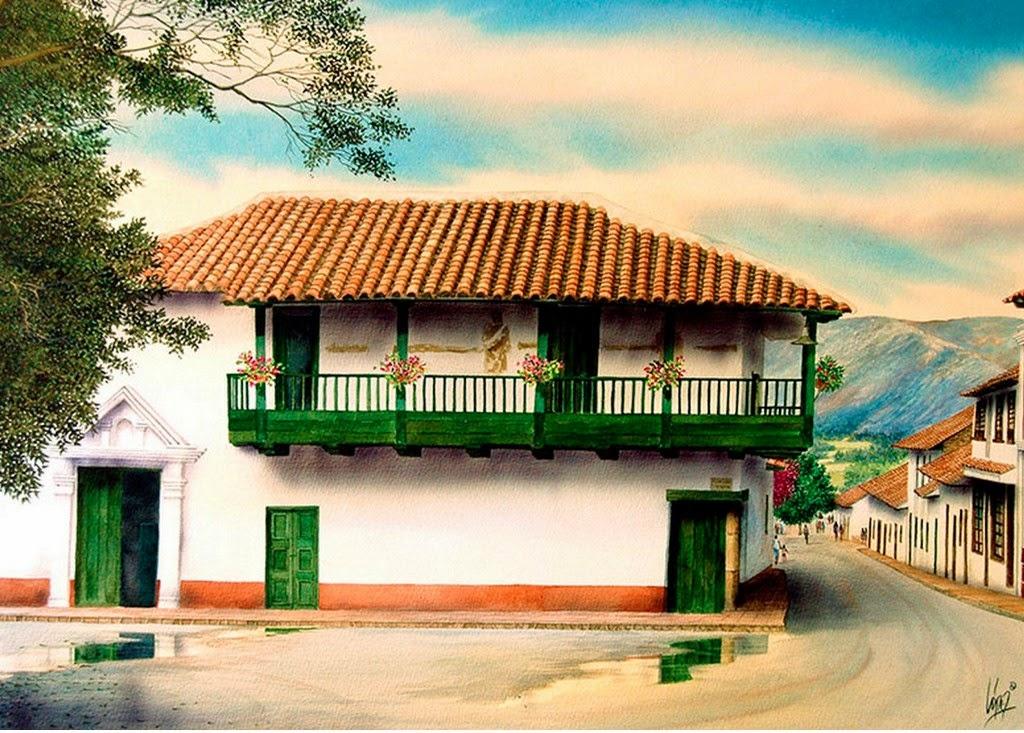 pinturas-de-paisajes-con-casas-de-pueblos