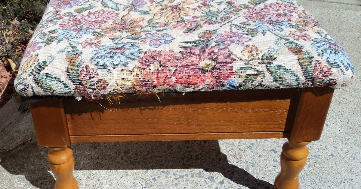 Foot Stool Redo To Match Chairs Redo It Yourself