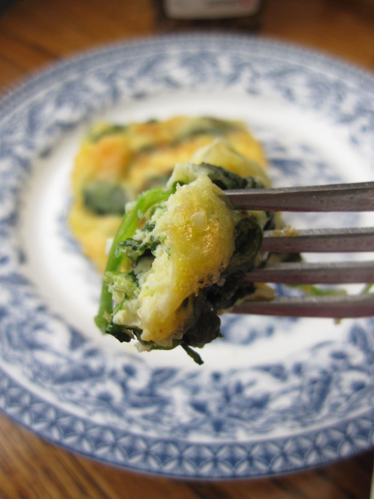 Mozzarella, Spinach and Egg Bake