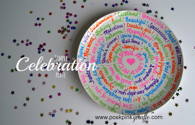 Simple Celebration Plate from Posh Pink Giraffe