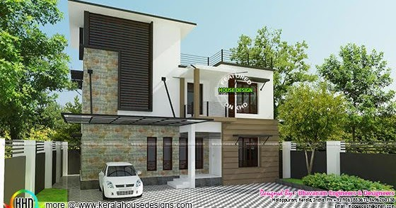 Contemporary home in 3 5 cent kerala home design and for House plans in 5 cents