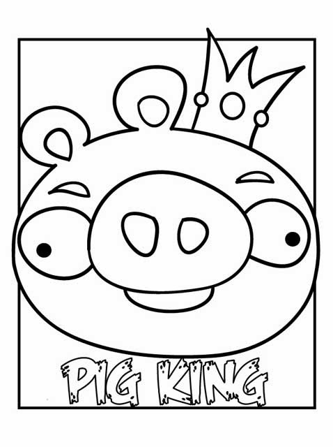 Kids Page Pig King Coloring Pages