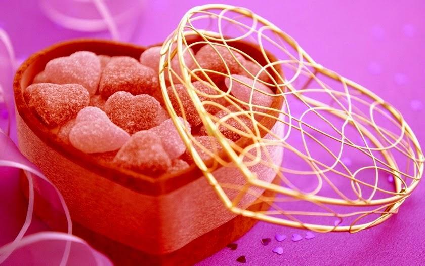 Decoración de San Valentín con gominolas