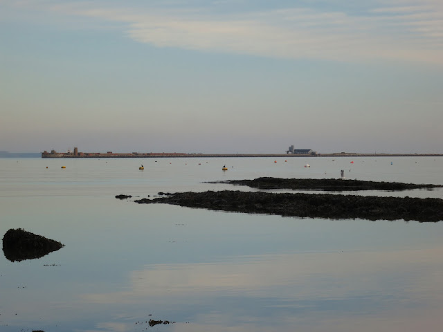 Looking across Portland Harbour in the evening.