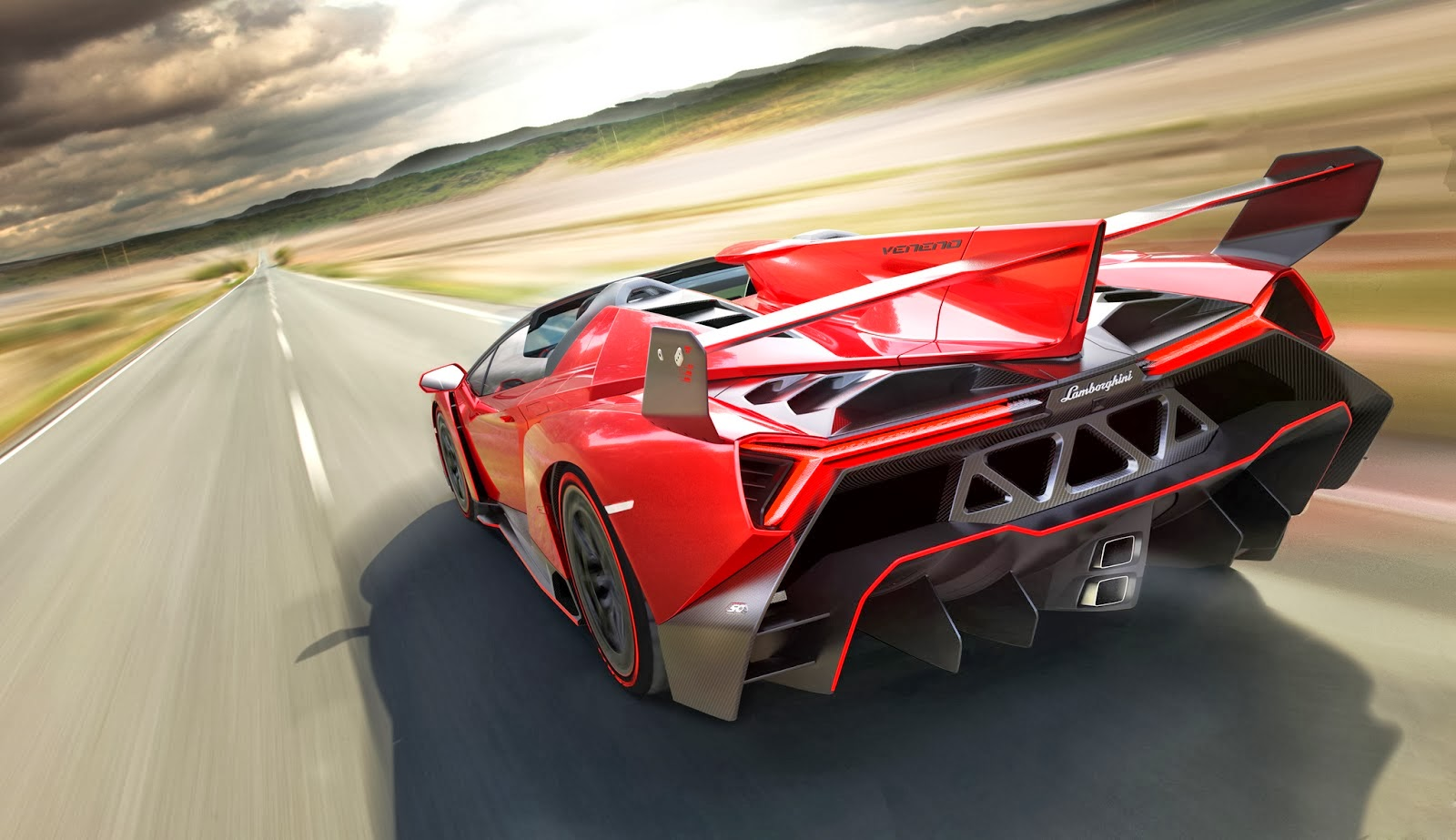 Lamborghini Veneno Roadster 2014 Wallpaper