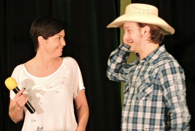 kim rhodes and richard speight jr at supernatural con in houston 2015