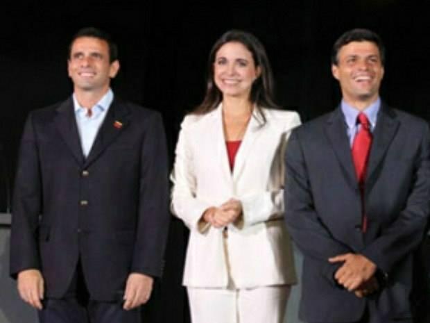 Henrique Capriles Radosky.María Corina, Leopoldo López Mendoza.