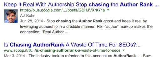 Google ngưng hiển thị tên tác giả trong kết quả tìm kiếm