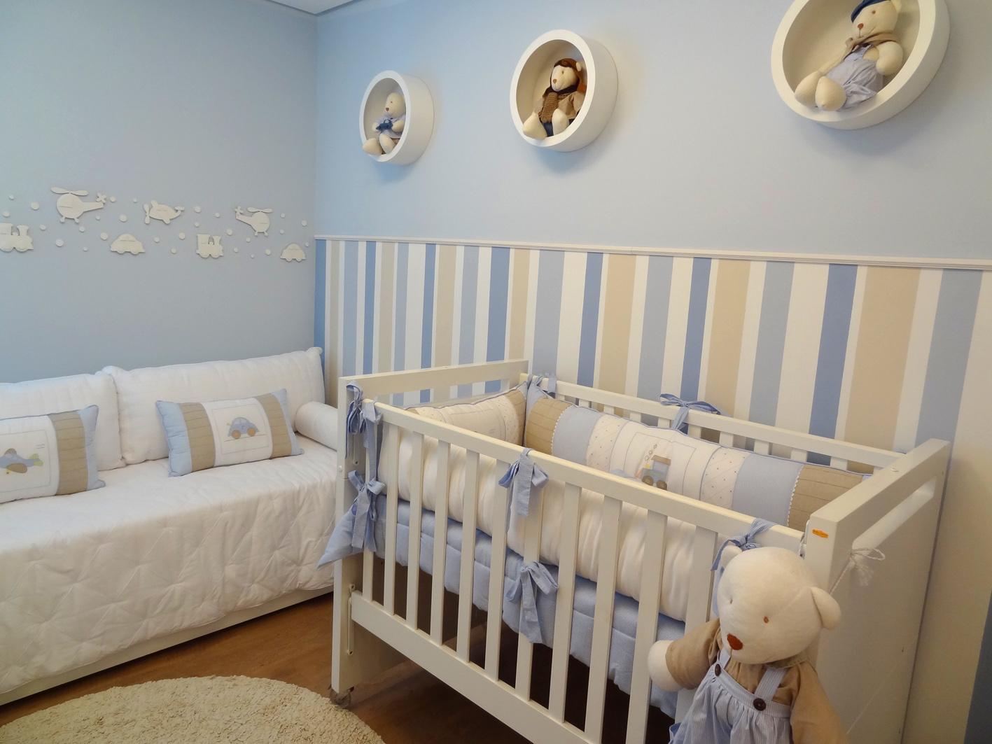 Tapete Para Quarto De Bebe Masculino Redival Com ~ Quarto Azul Marinho E Branco E Montar O Quarto Do Bebe