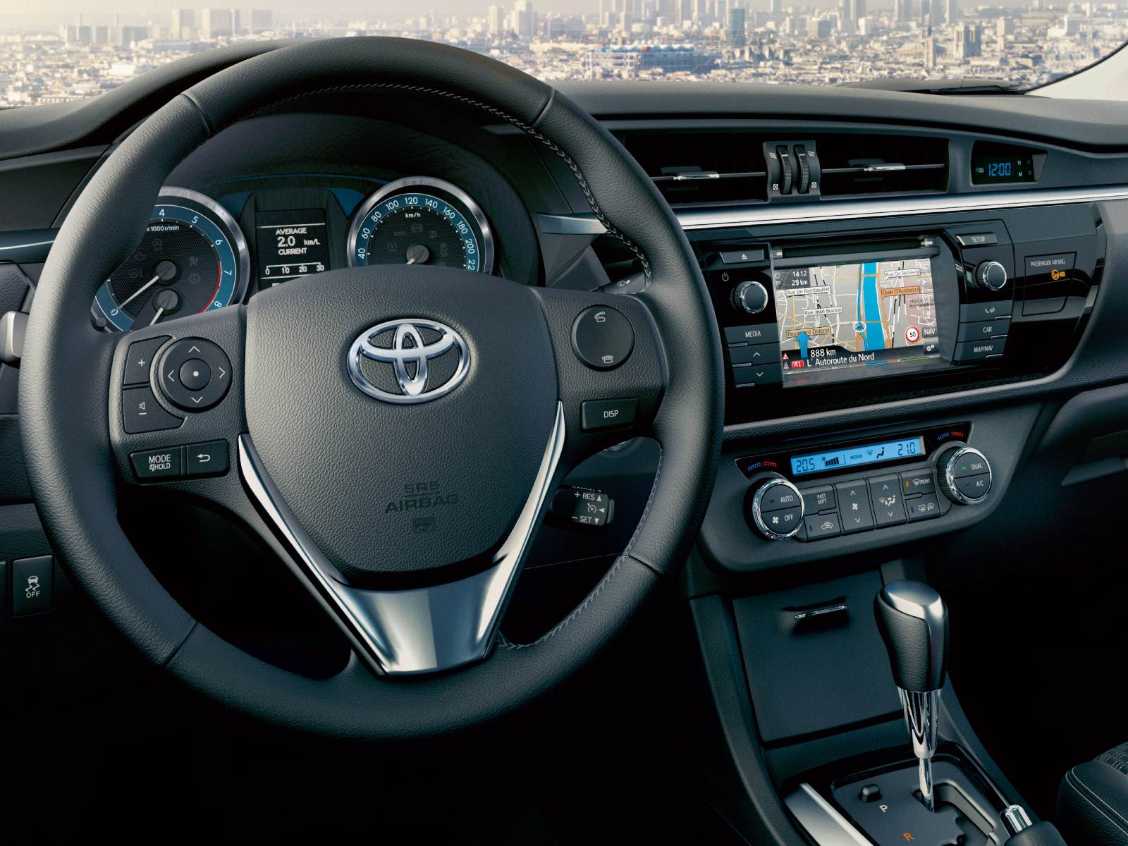 Novo Corolla 2015 - painel