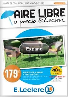 Catalogo e leclerc aire libre mayo 2013 - Portico muebles catalogo ...