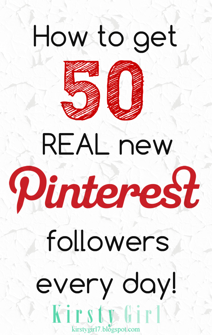 How to get 50 real new Pinterest followers a day