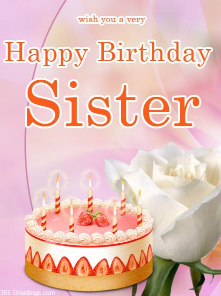 Beautiful Birthday Card for Sister Send Everyday – Cute Birthday Card for Sister