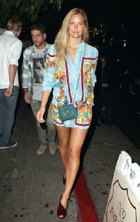 Bar Refaeli hanged out at Chateau Marmont, West Hollywood