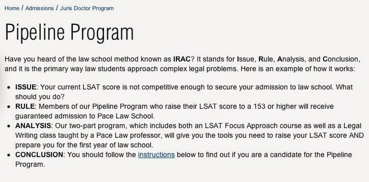 Outside the law school scam pace law school hustlers have a plan pace law school has an exciting new pipeline program it works as follows pace directs potential applicants whose current lsat score is not competitive malvernweather Images