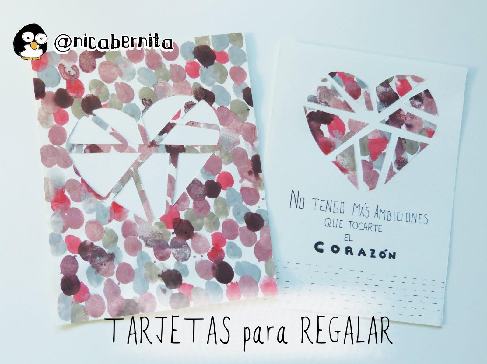 Tarjetas con corazones manualidades para regalar en san - Como hacer tarjetas para regalar ...