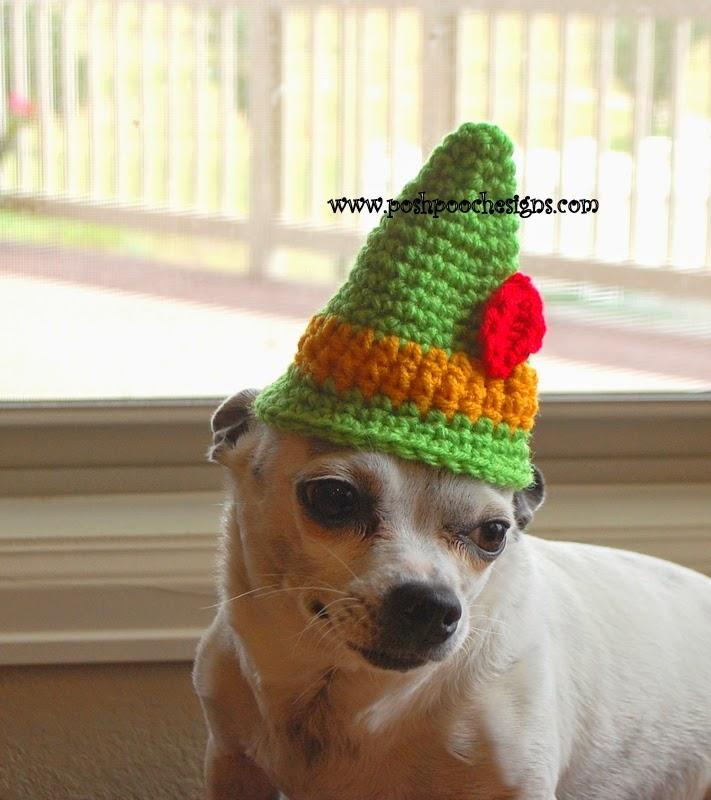 Santa Hat For Dogs Crochet Pattern