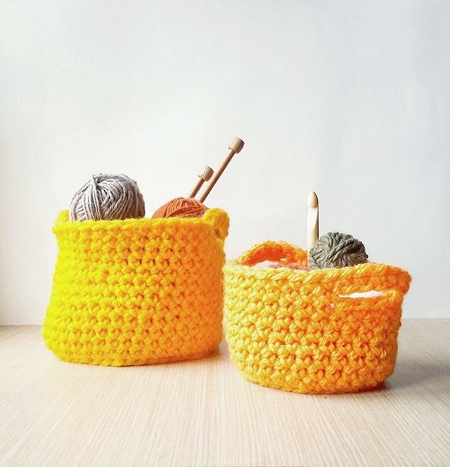 Chunky Crochet Baskets Pattern Little Things Blogged