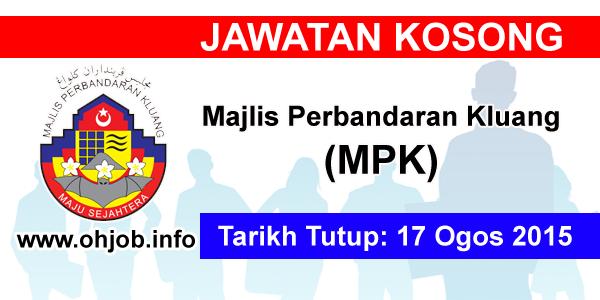 Jawatan Kerja Kosong Majlis Perbandaran Kluang (MPK) logo www.ohjob.info ogos 2015