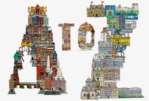 00-Front-Page-Hugo-Yoshikawa-Illustrated-Architectural-Alphabet-City-Typography-www-designstack-co
