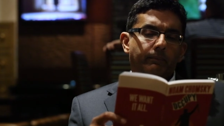 Dinesh D Souza reads books