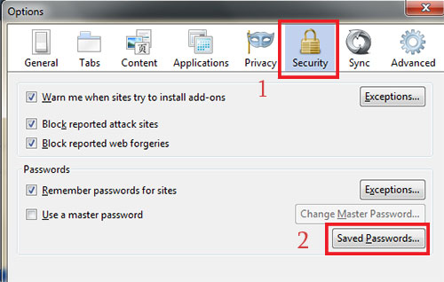lấy mật khẩu