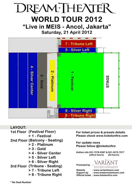 Layout Panggung Konser dream theater ancol jakarta