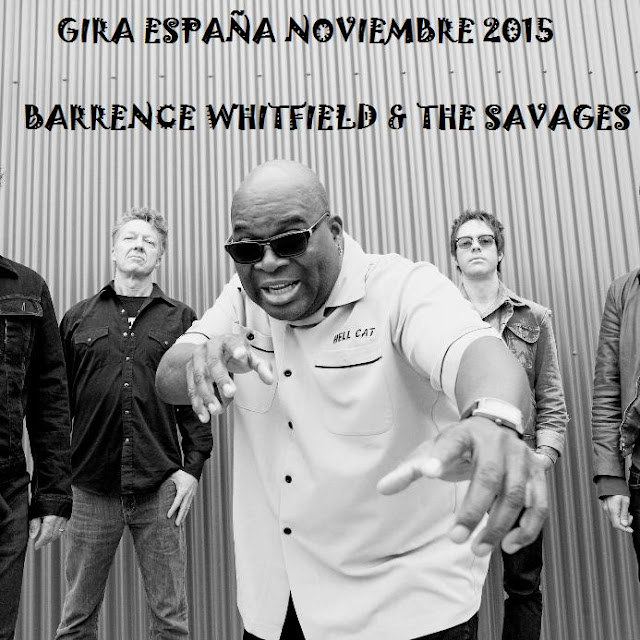 BARRENCE WHITFIELD - Gira España 2015