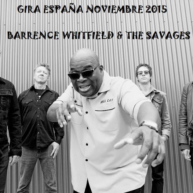 BARRENCE WHITFIELD - Gira España 2015