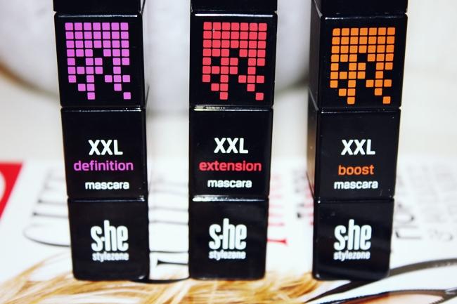 s.he stylezone XXL mascaras- Extension, Definition, Boost.she stylezone maskare. she stylezone makeup/sminka.