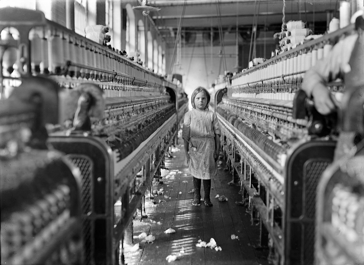 in textile mills here s the first group of these all taken of children