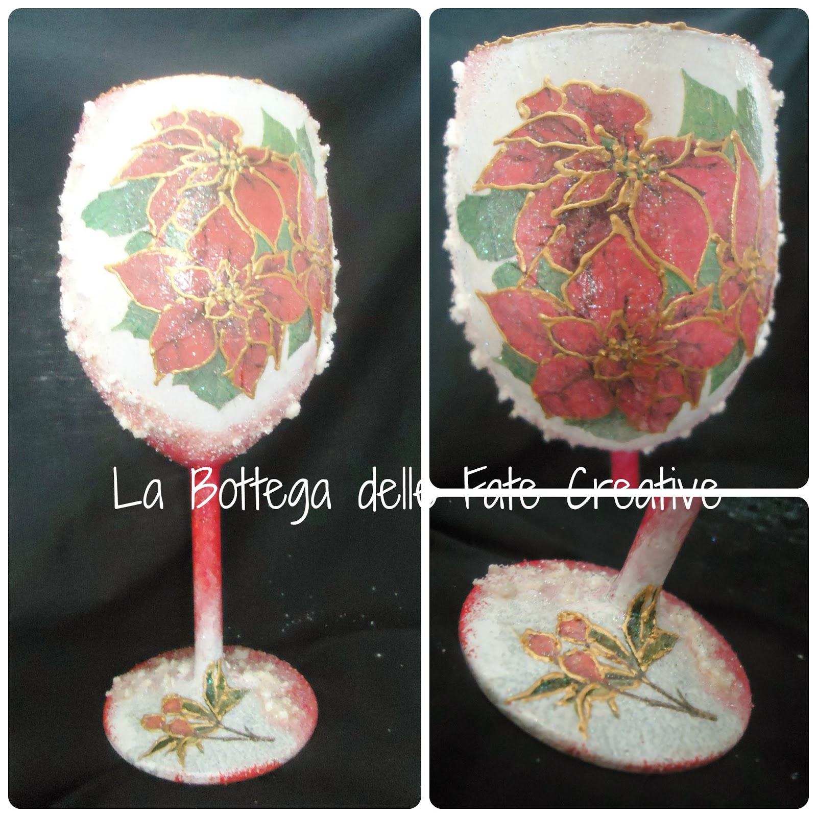 La bottega delle fate creative portacandele natalizi e sfere per l 39 albero di natale - Bicchieri decorati per natale ...