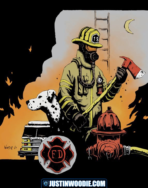 Fireman Illustration