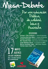 Mesa-debate: Por una educación pública de calidad, laica y feminista