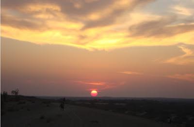 Rajasthan blogs, Rajasthan sunset