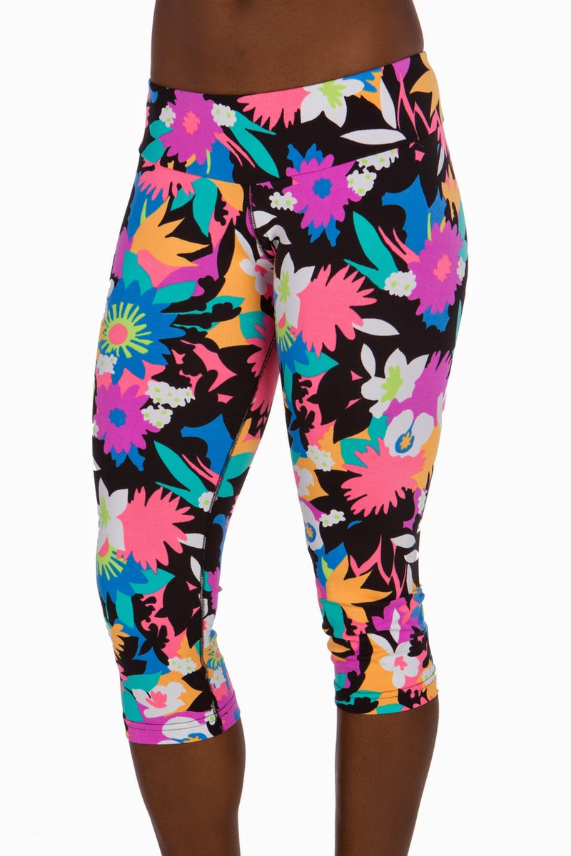 Style Athletics Zweet Sport The Kelly and Monte Carlo Capris Bird of Paradise