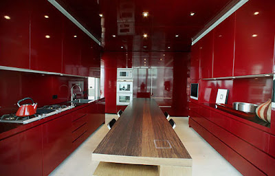 contemporary kitchen design in red -colorful  kitchen