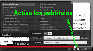 Activar subtitulos youtube
