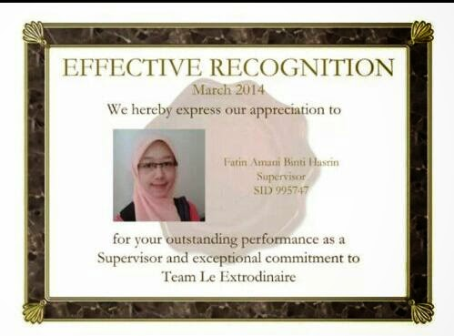 Team Effective Leader Recognition Award