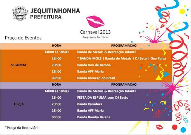 Jequi+progra+22 Cidades do vale se preparam para o Carnaval 2013