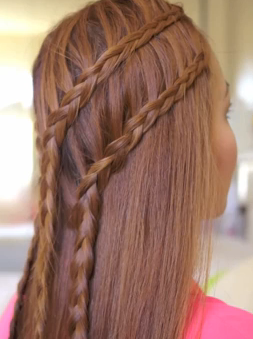 Braid Style For Girls: The Two Tier Lace Braids