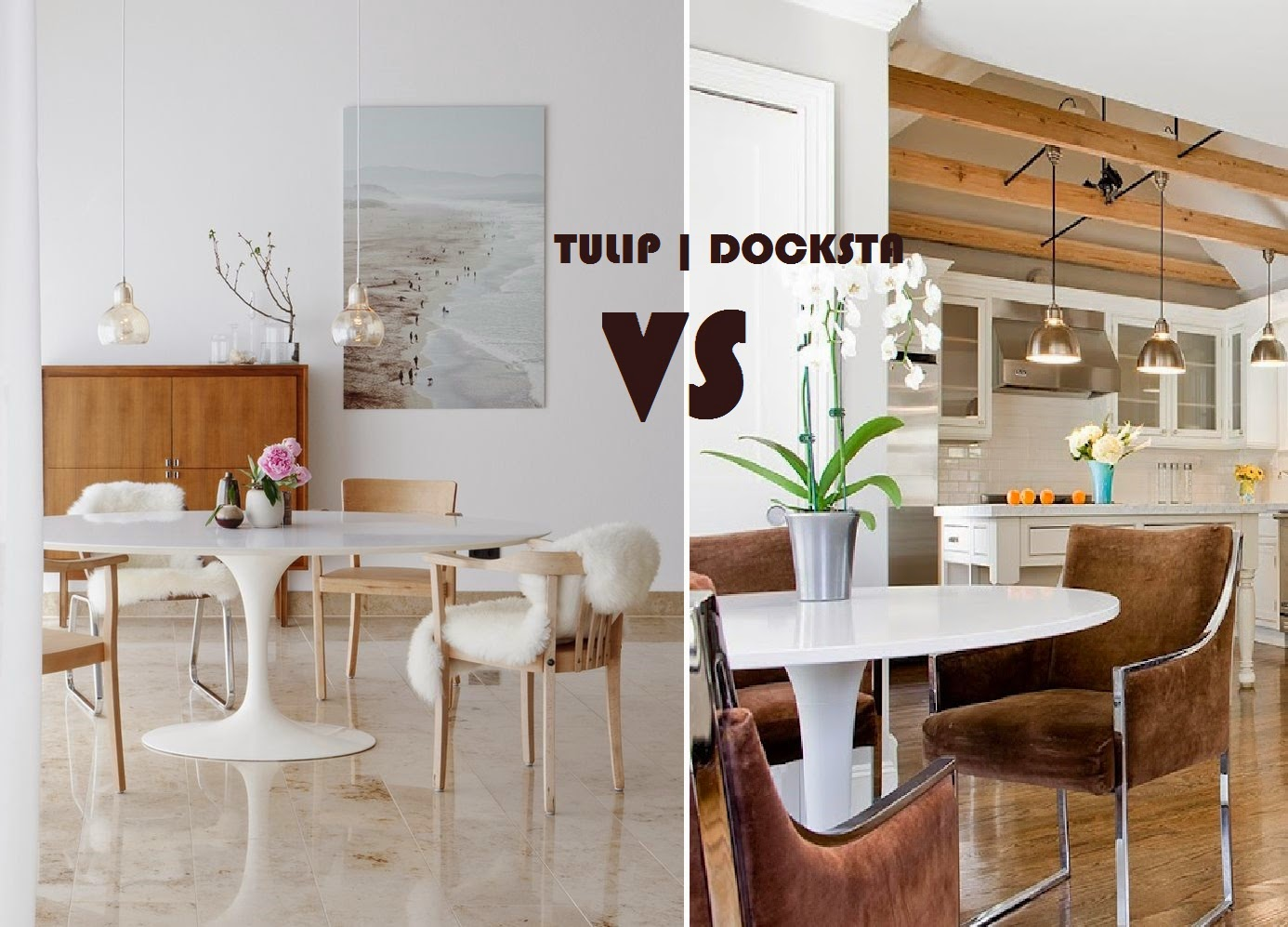 Tavolo Tulip Knoll Marmo : Blue baroque: twins different tulip vs docksta: stessa forma e