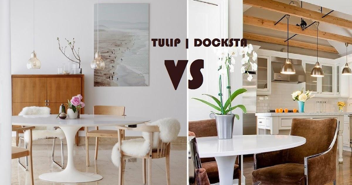 Tavolo Tulip Ikea : Blue baroque twins different tulip vs docksta stessa forma e