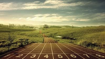 Magnificent Running Track 2013 Hd Desktop Wallpaper