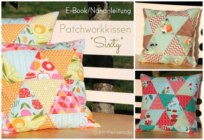 """Jahresrückblick - mein E-Book """"Patchworkkissen Sixty"""" 2015"""