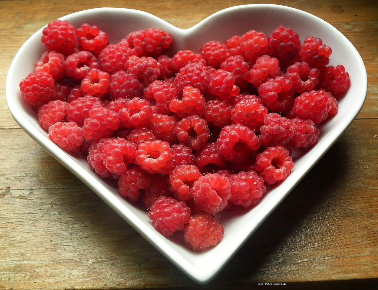 Healthy raspberries